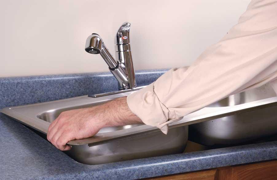 Установка раковины на кухне своими руками фото