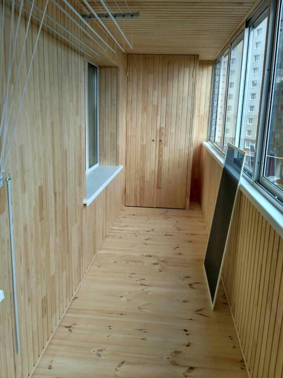 Обшивка балкона – последние работы